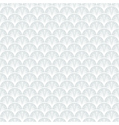 Art deco geometric pattern in silver white vector
