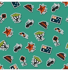 Australia set pattern vector image vector image