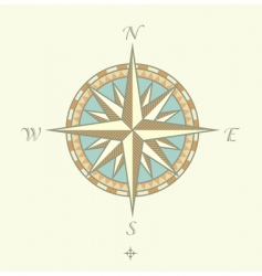 compass windrows vector image vector image
