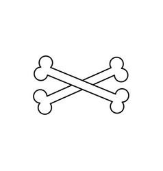 crossbones icon vector image