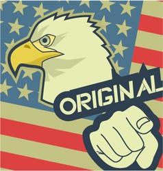 Eagle original america vector