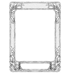 frame with laurel for portrait black isolated vector image