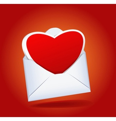 heart and envelope vector image vector image