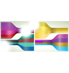 Set of four multicolor lines EPS 8 vector image vector image