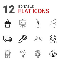12 label icons vector