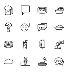 16 bubble icons vector