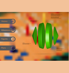3d infographic template with two cones and two vector image