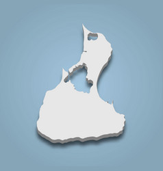 3d isometric map block island is an island in vector