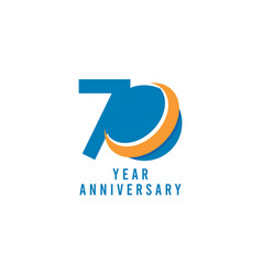 70 years anniversary global template design vector