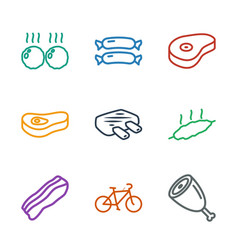 9 fat icons vector