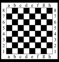 A chessboard white and bla vector