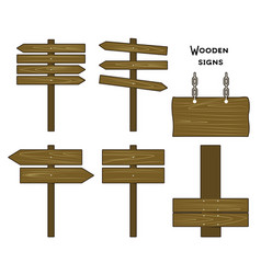 A collection wooden signs vector
