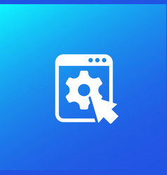 Admin panel website icon vector