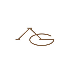 Ag letter mark initial logo icon vector