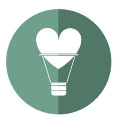 Airballon heart love romantic shadow vector