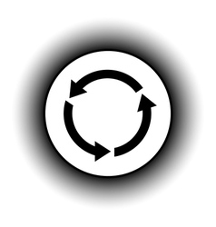 Arrows circle button vector