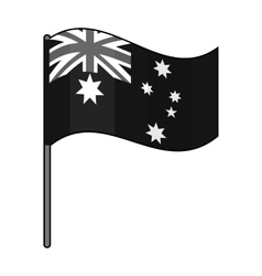 Australian flag icon in monochrome style isolated vector