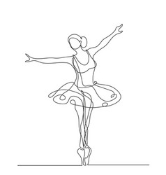 ballerina in motion vector image