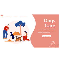 banner dogs care concept training vector image