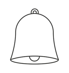bell school isolated icon vector image