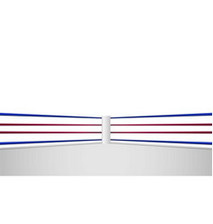 boxing ring arena and spotlight floodlights vector image