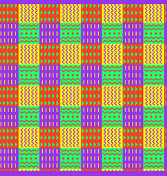 bright ornamental checkered seamless pattern vector image