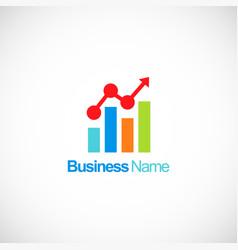 Business finance stock chart company logo vector