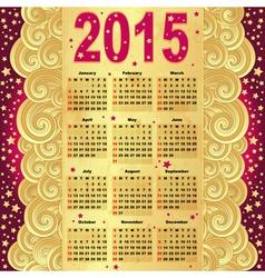 Calendar for 2015 vector image
