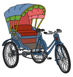Classic cycle rickshaw vector