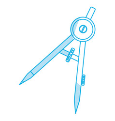 Compass geometry utensil vector