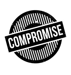 Compromise rubber stamp vector