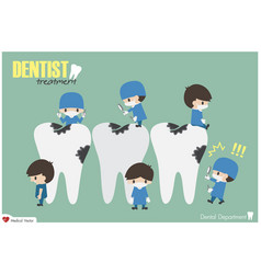 Dentists check up your teeth and look for dental vector