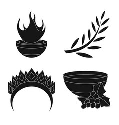design religion and myths logo vector image
