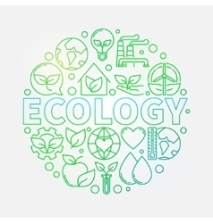 Ecology green vector image