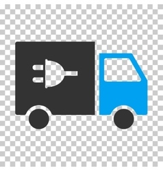 Electric Truck Eps Icon vector