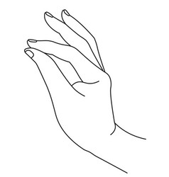Elegant hand with thumb and index finger clasping vector