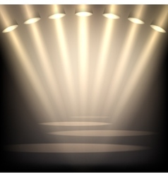 Empty stage background vector