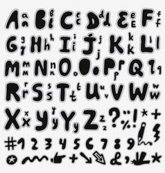 English hand drawn alphabet vector