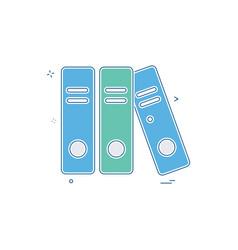 file folder document icon design vector image