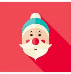 Flat Design Santa Claus Icon vector image