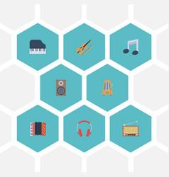flat icons tone symbol audio box radio and other vector image