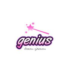Genius word text logo icon design concept idea vector