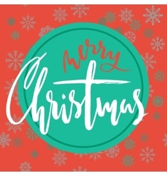 Green and red christmas background with christmas vector