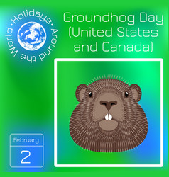 Groundhog day national holiday in the usa and vector