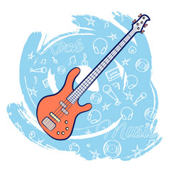guitar rock music-01 vector image