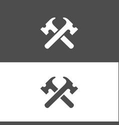 Hammer logo design template elements vector