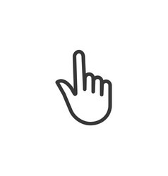 hand pointer outline icon simple flat style vector image