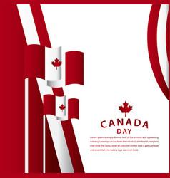 Happy canada day celebration template design vector