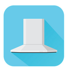 Hood kitchen air vent flat design blue icon vector