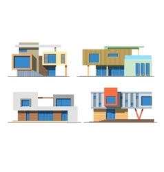 Houses 9 color vector image